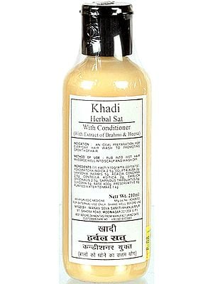 Khadi Herbal Sat with Conditioner (with Extract of Brahmi & Heena)
