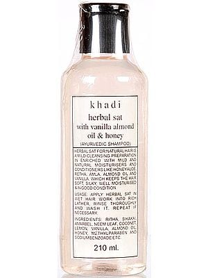 Khadi Herbal Sat with Vanilla Almond Oil & Honey (Ayurvedic Shampoo)