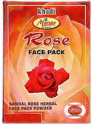Khadi Manav Herbal Rose Face Pack (Sandal Rose Herbal Face Pack Powder)