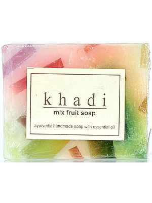 Khadi Mix Fruit Soap (Ayuredic Handmade Soap With Essential Oil) (Price Per Pair)