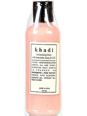 Khadi Moisturizing Lotion with Rose Extract, Honey & Vit E