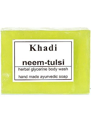 Khadi Neem-Tulsi Herbal Glycerine Body Wash (Hand Made Ayurvedic Soap) (Price Per Pair)