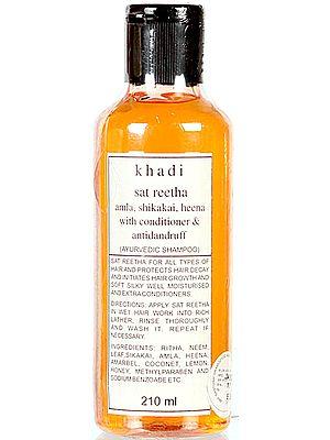 Khadi Sat Reetha Amla, Shikakai Heena with Conditioner & Antidandruff (Ayurvedic Shampoo)