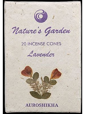 Lavender - Nature's Garden Incense Cones (Pack 4 Packets)
