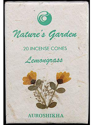 Lemongrass - Nature's Garden Incense Cones (Pack 4 Packets)