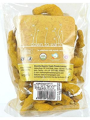 Morarka Organic Down To Earth Turmeric Whole Premium (Improving the Quality of Life, By Improving the Quality of Food.)