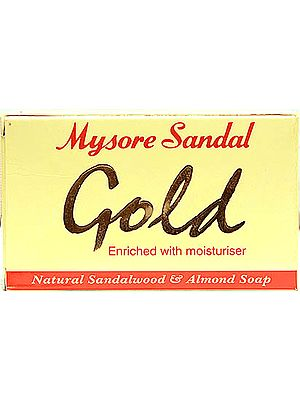 Mysore Sandal Gold: Natural Sandalwood and Almond Soap