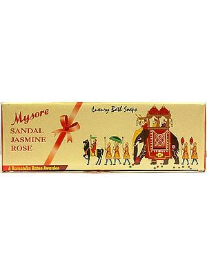 Mysore - Sandal Jasmine Rose (Luxury Bath Soaps)