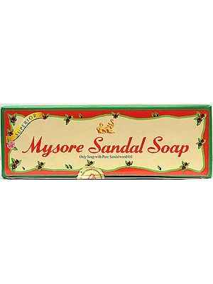 Mysore - Sandal Soap (Only Soap with Pure Sandalwood Oil): Price per Three Bars