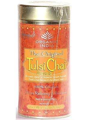 Organic India- The Original  Tulsi Chai Masala (An exotic blend of superior Assam Tea with Fresh Chai Spices & the finest Tulsi) 100% Organic Stress Relieving & Delicious,  Rich in Antioxidants