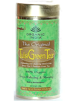 Organic India- The Original  Tulsi Green Tea (A Slimming and vitalizing blend of the finest Tulsi & premium Green Tea) 100% Organic Stress Relieving & Slimming, Rich in Antioxidants