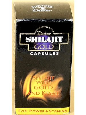 Shilajit Gold Capsules (Shilajit with Gold And Kesar) Net. 20 Capsules