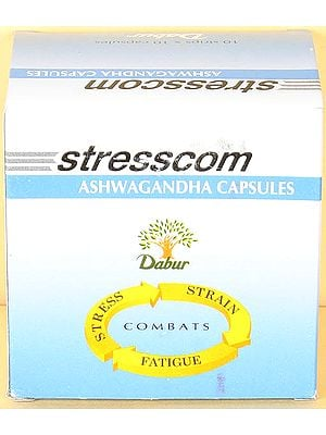 Stresscom Ashwagandha Capsules (For Stress, Strain, & Fatigue) - Combats (Price Per Strip of 10 Capsules )