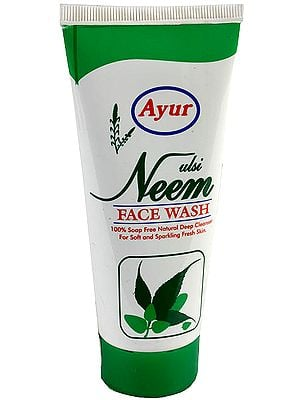 Tulsi Neem Face Wash - 100% Soap Free Natural Deep Cleanser (For Soft and Sparkling Fresh Skin)