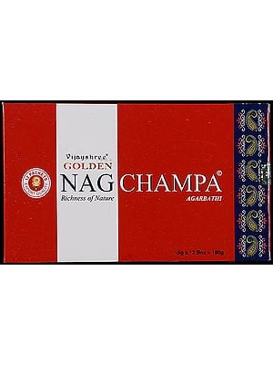 Vijayshree Golden - Nag Champa Agarbathi (Richness of Nature) (Pack 12 Packets)