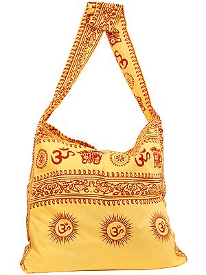 Om Shoulder Jhola Bag with Religious Print