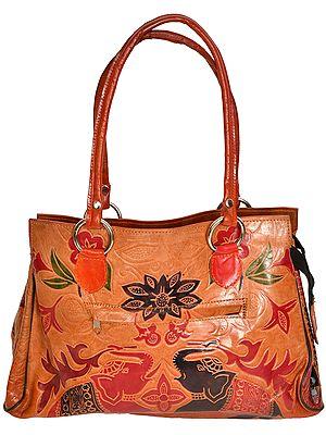 Elephant Shantiniketan Handbag from Kolkata