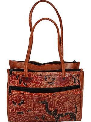 Arabian Desert Scene on a Shantiniketan Bag