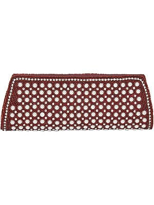 Fancy Clutch Bag with Faux Pearls and Crystals