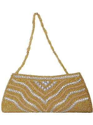 Clutch Bag with Zardozi Embroidered Beads