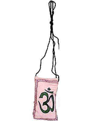 Embroidered Om Mobile Bag