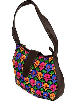 Multicolor Embroidered Handbag from Jaipur