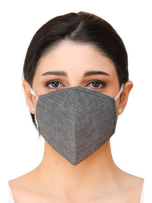 Three-ply Plain Fashion Mask with Cotton-Backing and Ear Loops