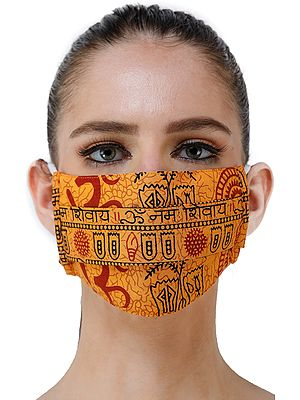 Om Namo Shivay Two ply Fashion Mask with Cotton-Backing