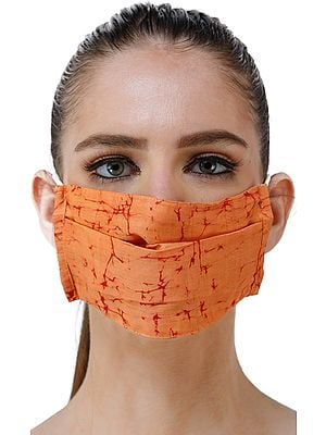Batik Print Two ply Fashion Mask with Cotton-Backing