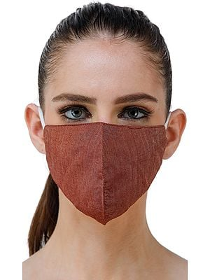 Two ply Silk Fashion Mask with Cotton-Backing