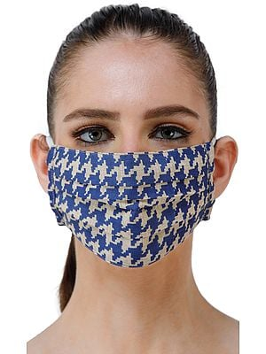 Two Ply Fashion Mask from Jharkhand with Block Printed Pattern