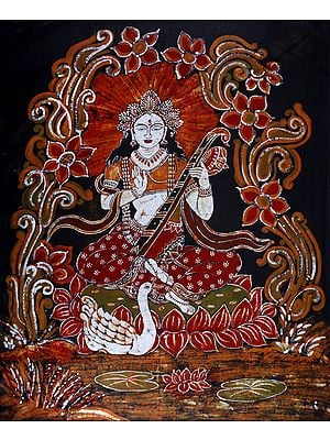 Padmasana Devi Sarasvati Blesses Her Devotees