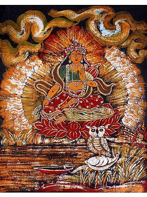 Goddess Lakshmi with Wealth Pot and Owl