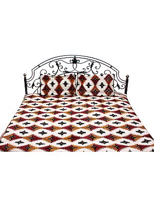 Block-Printed Bedspread from From Pilkhuwa