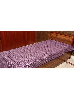 Purple Single-Bed Bedspread from Coimbatore