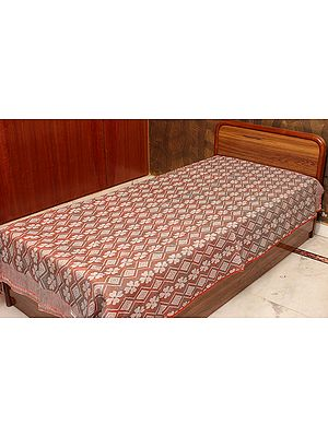 Light-Brown Single-Bed Bedspread from Coimbatore