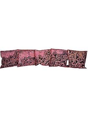 Lot of Five Batik Cushion Covers