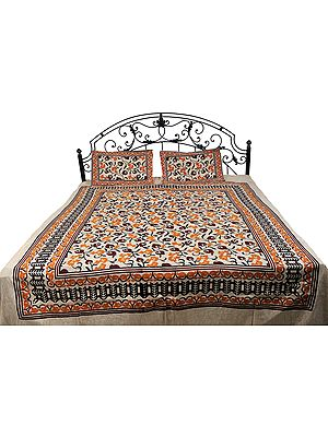 Bedspread from Pilkhuwa with Printed Flowers All-Over