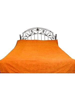 Stonewashed Bedspread with Ari Embroidery in Golden Thread