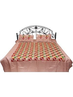 Phulkari Embroidered Bedspread from Punjab
