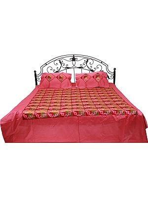 Phulkari Embroidered Bedspread from Punjab