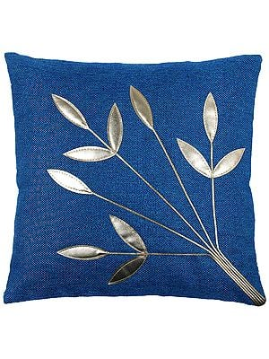 Cushion Cover with Applique Leaves