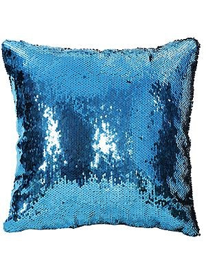 Densely Sequined Cushion Cover with Dual Effect