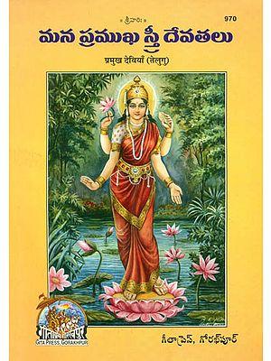 మన మ్రవఖ స్ర ఔవతలు: The Principal Hindu Goddesses in Telugu (Picture Book)