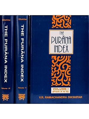 THE PURANA INDEX (3 Volumes)