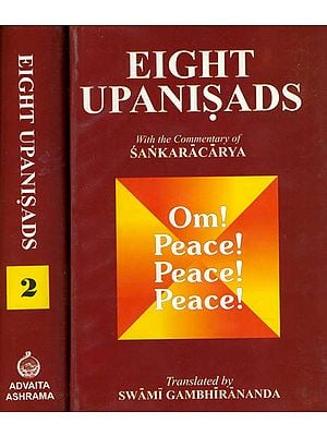 Eight Upanisads  with The Commentary of Sankaracarya (Set of 2 Volumes)