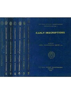 Tirumala Tirupati Devasthanams Inscriptions (Set of 8 Volumes) - An Old and Rare Book