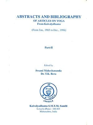 Abstracts and Bibliography of Articles on Yoga from Kaivalydhama