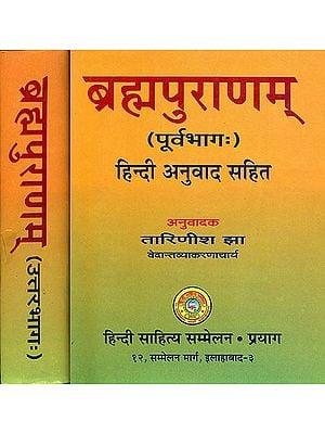 ब्रह्मपुराणम् Brahma Purana With Hindi Translation (Set of 2 Volumes)