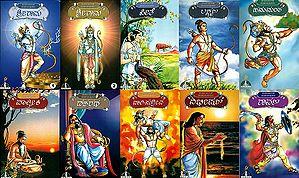 ರಾಮಾಯಣ ಕೆ ಮಹಾಪಾತ್ರ: Epic Characters of Ramayana (Set of  10 Books)